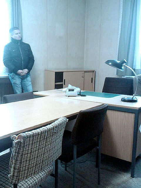 One of the interrogation rooms
