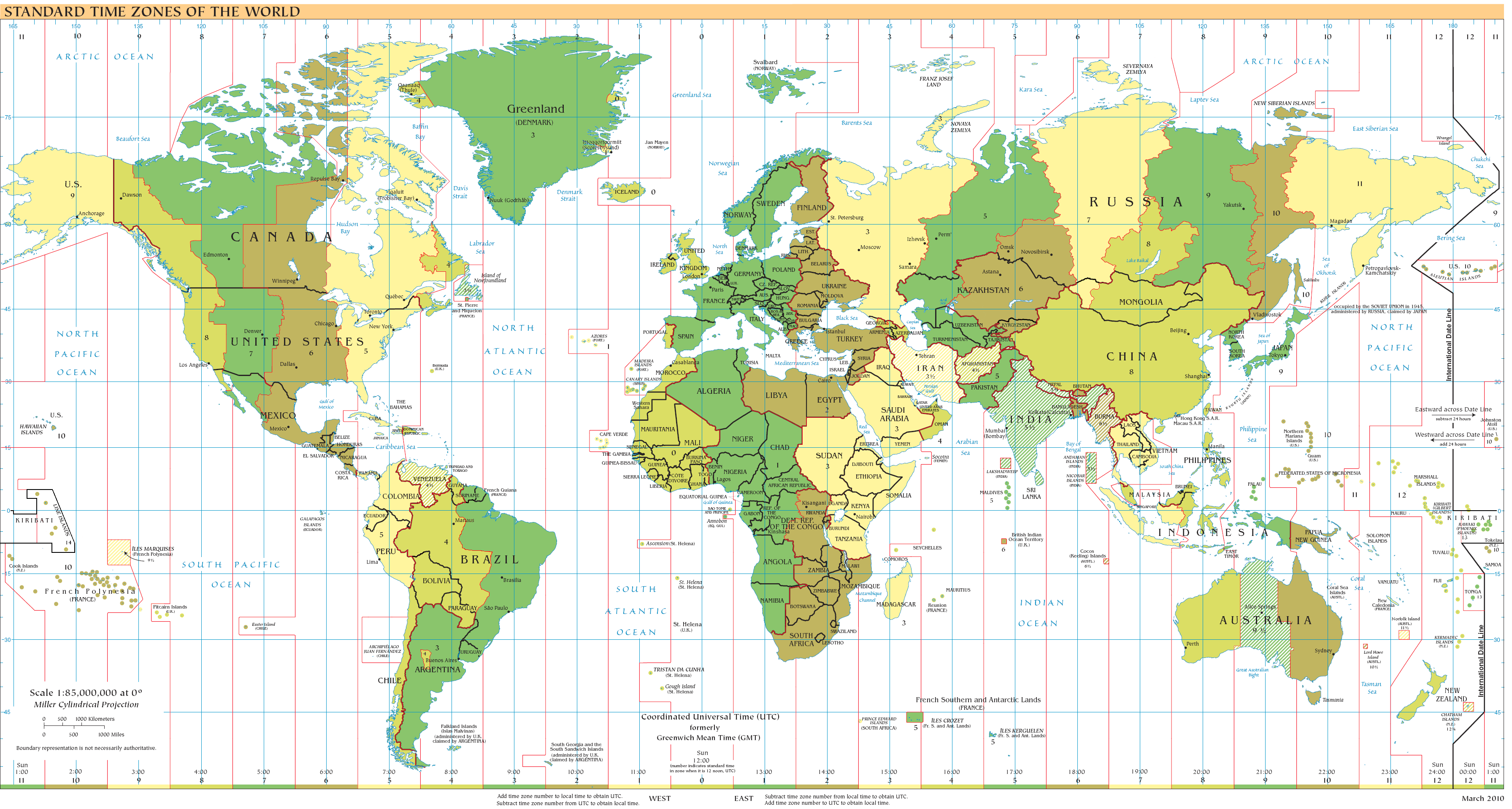 How to figure out the time difference to germany germanglobe time zones of the world gumiabroncs Gallery