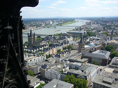 View from the Cologne Cathedral tower