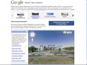 a screenshot of the google street view germany homepage