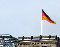 german flag on unity day