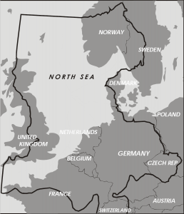 North Sea and surrounding countries