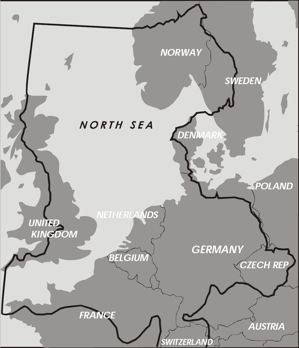 Map Of Germany North Sea.The North Sea One Of Germany S Coasts Germanglobe